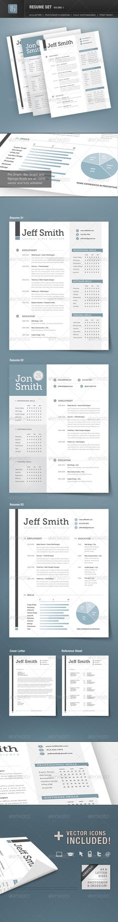 Resume Set | Volume 1 - GraphicRiver Item for Sale