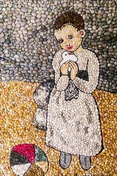 Marble Art, Marble Mosaic, Mosaic Art, Turtle Crafts, Pebble Pictures, Wood Carving Patterns, Mosaic Crafts, Shell Art, Mosaic Patterns
