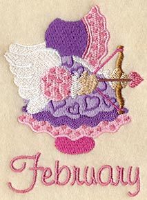 ** Sunbonnet Sue - February Block Of The Month Pattern Used As Applique Quilt @emlibrary