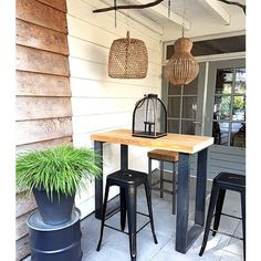 Outdoor Bar Table, Dinning Table, Garden Living, Home And Garden, Bbq Bar, Bbq Pitmasters, Small Outdoor Spaces, Outdoor Living, Backyard
