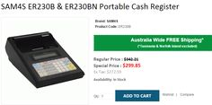 Looking for SAM4S ER230B & ER230BN Portable Cash Register..? OnlyPOS selling at @299.85 with FREE Shipping in Australia..!  http://www.onlypos.com.au/cash-register-sam4s-er230b-portable-cash-register