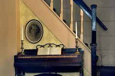 Beth's piano - Louisa May Alcott's home in Concord, MA