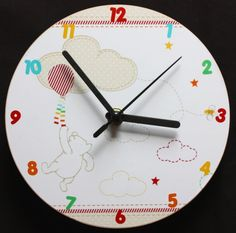 CLASSIC WINNIE THE POOH - HANDCRAFTED CLOCK