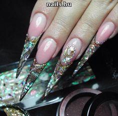 Stiletto,  unhas de acrílico, acrylic nails, gel nails, nail art