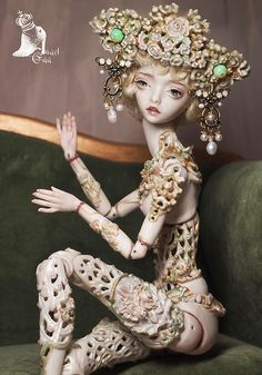 'Little Dragon' porcelain art doll by the extremely talented Marmite Sue.