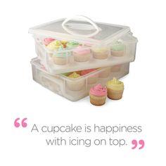 Snapware® Cupcake Carrier found at Cupcake Frosting, Cupcake Cakes, Cup Cakes, Cookie Quotes, Cupcake Carrier, Cardamom Cake, Acacia Honey, Healthy Cupcakes, Honey Recipes