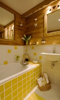 Yellow Tile Bathroom Ideas - http://interiorena.xyz/yellow-tile-bathroom-ideas/