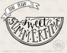 Watermelon SVG Cut File Sweet Summertime by TheSmudgeFactoryLLC