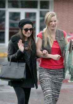 Lea Michele & Heather Morris shopping together. :)