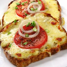 Toasted Cheese Sandwich. I just use any cheese I have on hand, great easy meal.