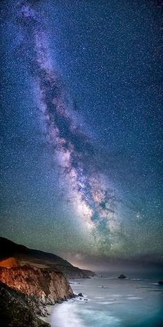 Galaxy Coast ~ Milky Way, Notleys Landing, California.  I just saw a scene like this in Maine.