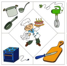 People occupations- a cook (printables! Community Helpers Preschool, Preschool Education, Kids Learning Activities, Infant Activities, Preschool Activities, Teaching Kids, Helper Jobs, People Who Help Us, Learning English For Kids
