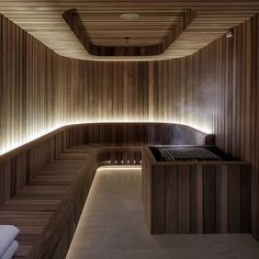 Crown Towers Perth, lighting design by Electrolight Home Spa Room, Spa Rooms, Sauna Steam Room, Sauna Room, Saunas, Sauna Lights, Sauna A Vapor, Spa Interior Design, Home Decor Ideas