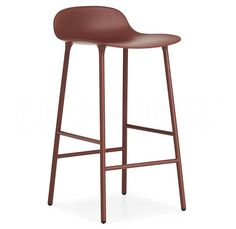 NORMANN COPENHAGEN barová židle Form Steel červená Eames Chairs, Bar Chairs, High Chairs, Copenhagen Design, Restaurant Tables And Chairs, Chaise Bar, Diy Chair, Footrest, Contemporary Decor