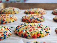 These vanilla cookies are covered in sprinkles, just like your local Italian-American bakery used to make.