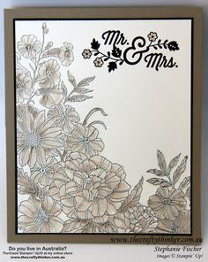 Stampin Up, #thecraftythinker, Easel Card, Corner Garden, Picture Perfect, Starfish, By the Tide, Wedding Card
