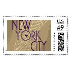 NYC Vintage Map Gold | Atelier Isabey Stamps