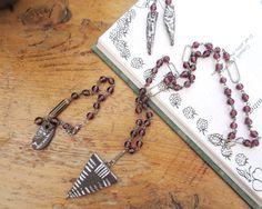 """Une parure """"industrielle"""" collier ; bracelet et boucles d'oreilles à petit prix pour les fêtes ..... : Parure par les-reves-de-minsy"""