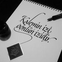 """""""Her harf bir niyazdır."""" Kaligrafi NÜ"""