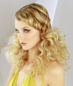 Smooth look with big hair Sleek Hairstyles, Vintage Hairstyles, Summer Hairstyles, Wedding Hairstyles, Long Blonde Curly Hair, Big Hair, Fancy Hair, Pagent Hair, Hair Rainbow