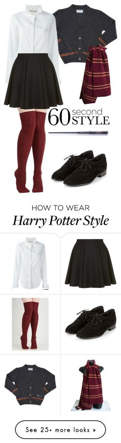 """60 Second Style: Last Minute Halloween Costume"" by seuber on Polyvore featuring Amen. and Topshop"