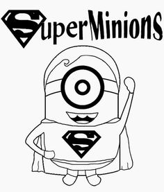 Childrens film free minion clipart cartoon superhero superman printable coloring pictures of minions