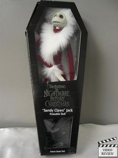 "Nightmare Before Christmas ""Sandy Claws"" Jack poseable doll; Applause NEW Sealed"