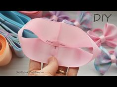 Ribbon Hair Bows, Diy Hair Bows, Diy Bow, Diy Ribbon, Ribbon Flower, Fabric Flowers, Hand Embroidery Videos, Diy Embroidery, Boutique Bow Tutorial