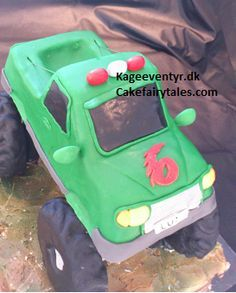 Cake Fairy Tales: How to make a 3D Monster truck