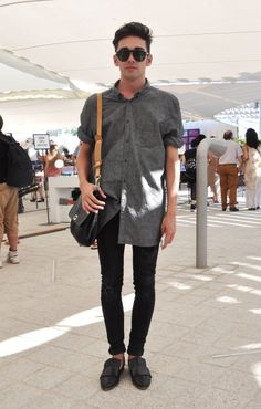 great shirt sunglasses shoes black jeans bag style fashion streetstyle men tumblr