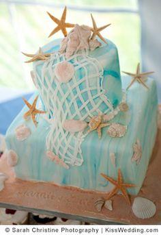 starfish beach theme wedding cakes