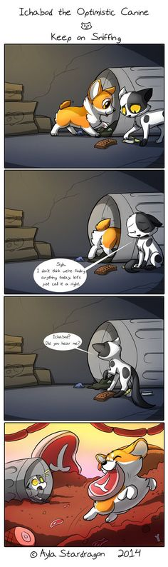 Ichabod the Optimistic Canine Comic