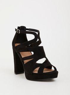 04ebd836e26 Black Caged Platform Heel (Wide Width)