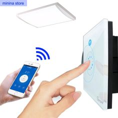 13.68$  Buy here - http://alisp1.shopchina.info/go.php?t=32778362713 - Sonoff Touch Switch wifi Luxury Glass1 Gang1Way Timing  wireless wall Switch Remote Control Via APP for smart home(US/EU)2A/400W  #aliexpresschina