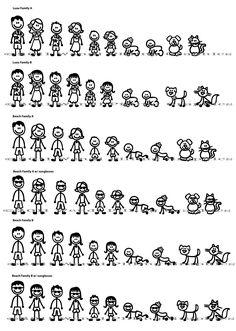 Stick Figure Family Window Decals - New Ideas Stick Figure Family, Stick Family, Tatuagem Diy, Stick Figure Drawing, Family Car Decals, Family Drawing, Silhouette Clip Art, Hand Sketch, Stick Figures
