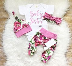 Baby Girl Clothes Newborn Baby Girl Outfit Coming Home Outfit Baby Sister Outfit Take Home Outfit Baby Shower Gift Baby Gift Photo Prop by LLPreciousCreations on Etsy https://www.etsy.com/listing/529203055/baby-girl-clothes-newborn-baby-girl