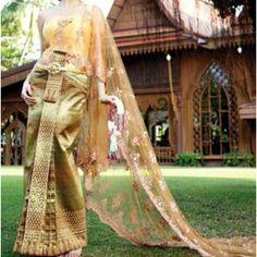 Thai wedding dress.. Modify the train to a traditional American dress..
