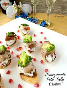 Pomegranate Pork Belly Crostini~ The Complete Savorist