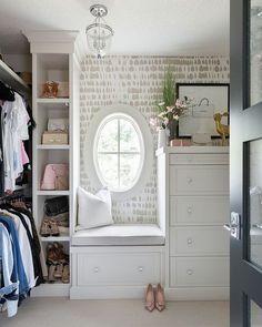 Schumacher Queen of Spain Wallpaper Warm Silver in Walk in Closet Closet Island, Closet Bedroom