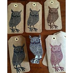 Owl stamp. Love the eyes.