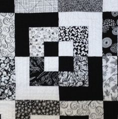 Modern Large Lap Quilt Bed Black And White By FabriArts