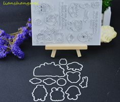 Monsters Metal Cutting Dies and stamp Stencils for DIY Scrapbooking/photo album Decorative Embossing DIY Paper Cards Ma