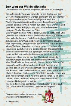 Kids And Parenting, Storytelling, Kindergarten, Merry Christmas, German, Elke Bräunling, Children, Winter, Den