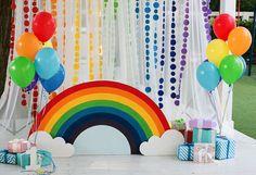 День рождения для ребенка в стиле Радуга