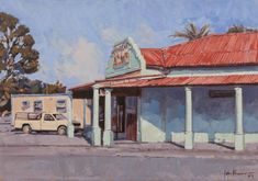 Corner Cafe, Unique Paintings, Aberdeen, Small Towns, Gallery