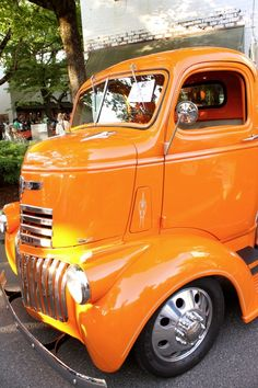 Old Orange Chevy Truck