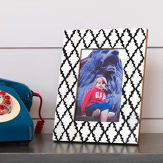 Large Black & White Frame - Photo Frames & Holders - Home Accessories