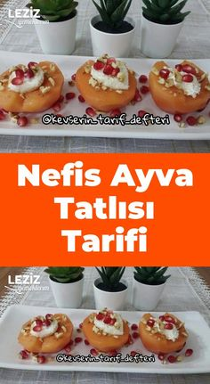 Nefis Ayva Tatlısı Tarifi Doughnut, Healthy Dinner Recipes, Deserts, Muffin, Food And Drink, Pudding, Homemade, Cooking, Breakfast