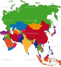 buy colorful asia map by volina on graphicriver colorful asia map with country borders and capital cities