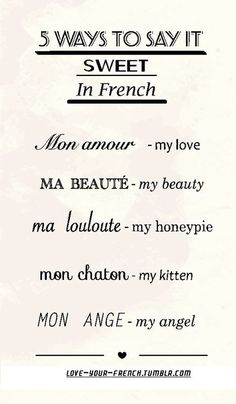 French sweet sayings - Come to Le Bouchon and try them out!  www.lebouchonofch...